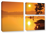 Hatteras Pools And Bridge, 3 Piece Gallery-Wrapped Canvas Flag Set Gallery Wrapped Canvas Set by Steve Ainsworth