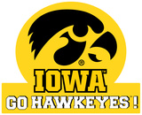 Iowa Hawkeyes Jumbo Tailgate Peel & Stick Wall Decal