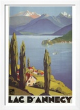 Lac Dannecy Print by Roger Broders