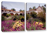 Gardens Of Mission San Juan Capistrano, 2 Piece Gallery-Wrapped Canvas Set Prints by Linda Parker