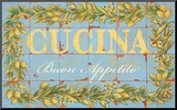 Mediterranean Cucina Mounted Print by Michael Letzig