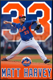 New York Mets - M Harvey 15 Mounted Print