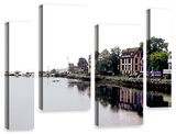 Fishing Village Nova, 4 Piece Gallery-Wrapped Canvas Staggered Set Prints by Linda Parker
