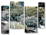 Botanical Garden, 4 Piece Gallery-Wrapped Canvas Staggered Set Prints by Linda Parker