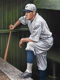 Babe RuthTop Step Giclee Print by Darryl Vlasak