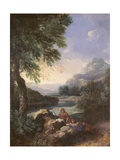 Landscape with Shepherds, C.1660 Giclee Print by Gaspard Poussin Dughet
