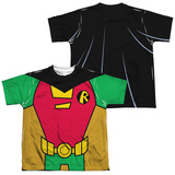 Youth: Teen Titans Go- Robin Uniform (Front/Back Print) T-shirts