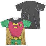 Teen Titans Go- Robin Uniform (Front/Back Print) T-shirts