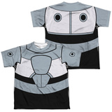 Youth: Teen Titans Go- Cyborg Uniform (Front/Back Print) T-Shirt