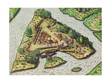 A Site for the Fort Is Chosen, from 'Brevis Narratio..' Giclee Print by Jacques Le Moyne