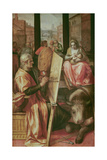 Saint Luke Painting the Virgin Mary Giclee Print by Frans Floris