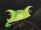 Peeking Frog Giclee Print by Ed Capeau