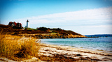 Nobska Lighthouse Landscape Giclee Print by Jobe Waters