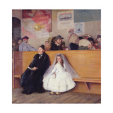 At the Station Giclee Print by Giuseppe Ricci