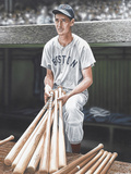 Ted Williams on Deck Giclée-Druck von Darryl Vlasak