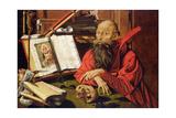 St. Jerome in Meditation Giclee Print by Marinus van Roejmerswaelen