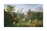 Morning, the Bathers, 1772 Giclee Print by Claude Joseph Vernet