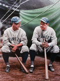 Babe Ruth and Lou Gehrig Giclée-trykk av Darryl Vlasak