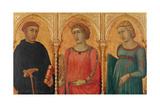 Three Saints Giclée-tryk af Pietro Lorenzetti