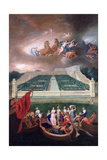 View of the Orangerie and the Chateau De Versailles with the Abduction of Helen, 1688 Giclee Print by Jean Cotelle the Younger