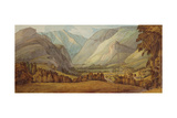The Vale of St. John, 1786 Giclee Print by Francis Towne