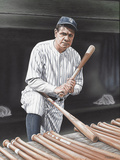 Babe Ruth On Deck Giclee Print by Darryl Vlasak