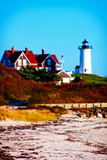 Nobska Lighthouse Portrait Giclee Print by Jobe Waters