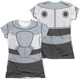 Juniors: Teen Titans Go- Cyborg Uniform (Front/Back Print) T-shirts