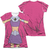 Juniors: Teen Titans Go- Starfire Uniform (Front/Back Print) T-shirts