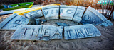 Provincetown Theater Sign Ruins Giclee Print by Jobe Waters