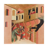 Polyptych of the Blessed Agostino Novello and Four Stories of His Life Giclée-tryk af Simone Martini