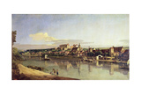 View of Pirna from the Right Bank of the Elbe, C.1753 Giclee Print by Bernardo Bellotto