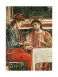 The Last Supper, Detail of Saint Matthew and Saint Philip, 1447 Giclee Print by Andrea Del Castagno