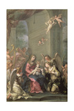 Mystic Marriage of St. Catherine, 1716 Giclee Print by Giovanni Gioseffo Da Sole