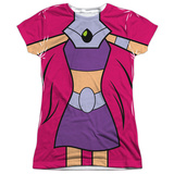 Juniors: Teen Titans Go- Starfire Uniform T-shirts