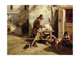 The Knife-Grinder Giclee Print by Alexandre Gabriel Decamps