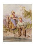 The Young Anglers Giclee Print by James Jnr Hardy