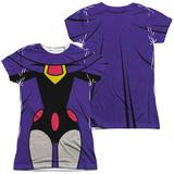Juniors: Teen Titans Go- Raven Uniform (Front/Back Print) Shirt