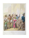 The Posters, from 'Tableau De Paris', 1815-30 Giclee Print by Georg Emanuel Opitz