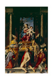 Madonna and Child Enthroned with Saint Anthony Giclee Print by Bartolomeo Passarotti