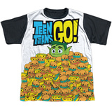 Youth: Teen Titans Go- Burgers & Dogs Black Back Shirt