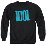 Crewneck Sweatshirt: Billy Idol- Logo T-Shirt