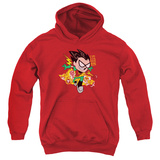 Youth Hoodie: Teen Titans Go- Robin Pullover Hoodie