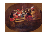 Monkeys Dressed as Soldiers Playing Cards and Carousing Giclee Print by David Teniers the Younger
