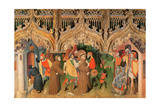 Scene from the Life of St. Francis from the Life of the Virgin and St. Francis Altarpiece Giclee Print by Nicolas Frances