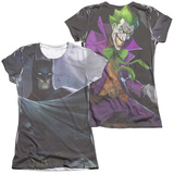 Juniors: Infinite Crisis- Batman VS. Joker (Front/Back Print) T-Shirt