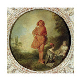 The Proud Man, 1715 Giclée-tryk af Jean Antoine Watteau