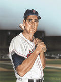 Ted williams Portrait Giclée-Druck von Darryl Vlasak