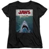 Womens: Jaws- Lined Poster T-shirts
