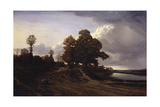 View of the Lake at Ville-D'Avery, 1833 Giclee Print by Nicolas Louis Cabat